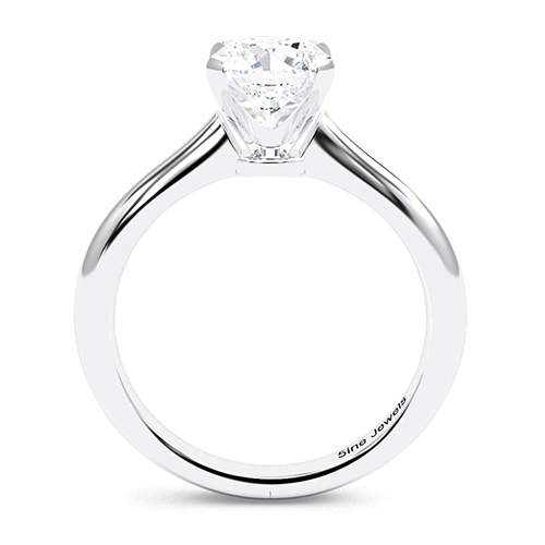 Round Brilliant Cut Petite 4 Prong  Solitaire  Engagement Ring