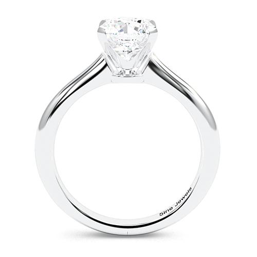 Round Brilliant Cut Petite 4 Prong  Solitaire  Engagement Ring