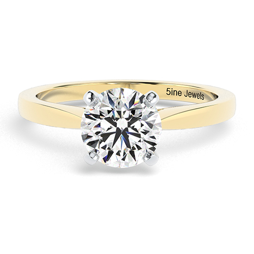 Round Brilliant Cut Petite  Solitaire  Engagement Ring