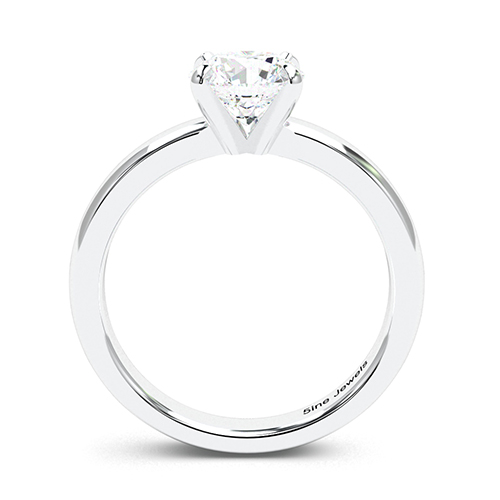 1.00 Ct SI2 G Round Brilliant Cut Comfort fit 4 Prong Diamond Solitaire Engagement Ring 18K-White Gold