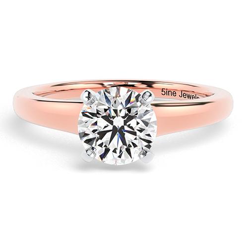 Round Brilliant Cut Contemporary Diamond Solitaire Engagement Ring