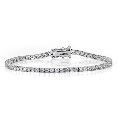 Round Brilliant Cut Tennis   Bracelets