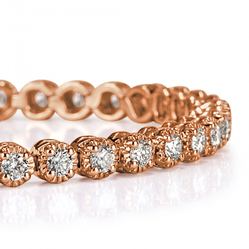 3.50 Ct Round Brilliant Cut Tennis Bracelets Bracelets 18K-Rose Gold