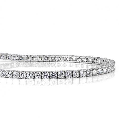 5.50 Ct Round Brilliant Cut Tennis  Bracelets Bracelets 18K-White Gold
