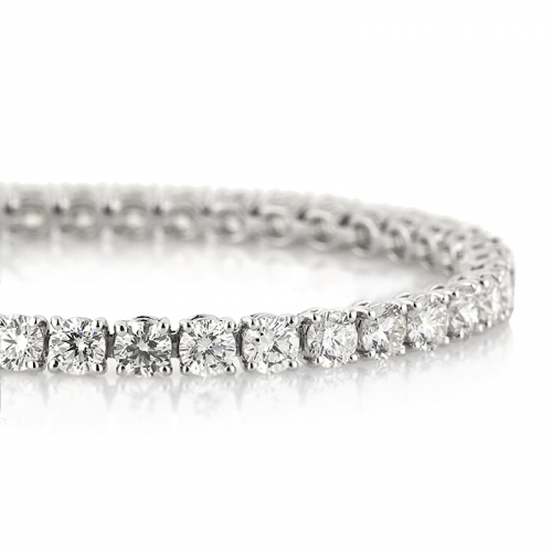 10.00 Ct Round Brilliant Cut Tennis Bracelets Bracelets 18K-White Gold
