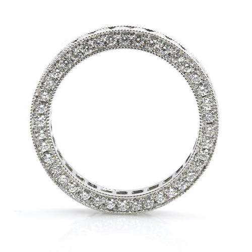 2.00 Ct Round Brilliant Cut Full Eternity Channel Diamond Wedding Wedding Ring 18K-White Gold