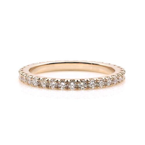 Round Brilliant Cut Petite Full Eternity Diamond Wedding Wedding Ring