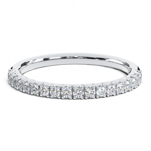 Round Brilliant Cut Classic half Eternity  Eternity Bands  Wedding Ring