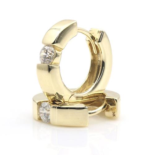 0.30 Ct Hoop Earrings Earrings 18K-White Gold