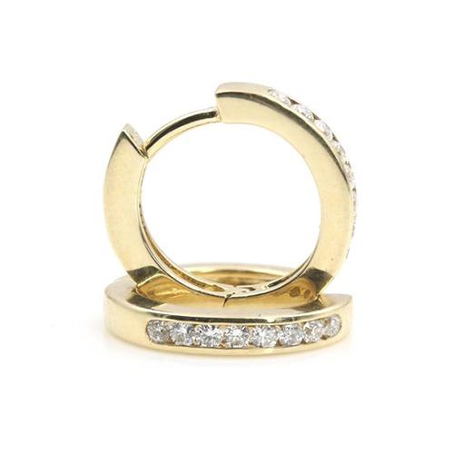 0.20 Ct Hoop Earrings Earrings 18K-White Gold