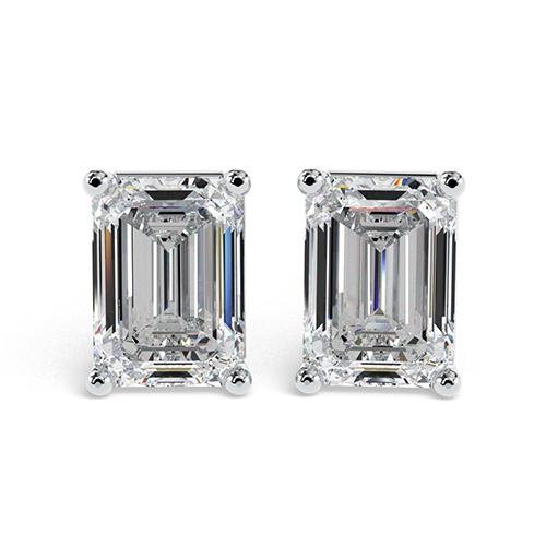 Emerald Cut    Earrings