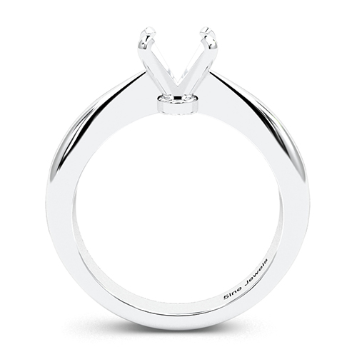 Round Brilliant Cut Tapered Bow Style Solitaire Engagement Ring   Mounts