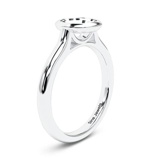 Round Brilliant Cut Bezel Solitaire Engagement Ring   Mounts