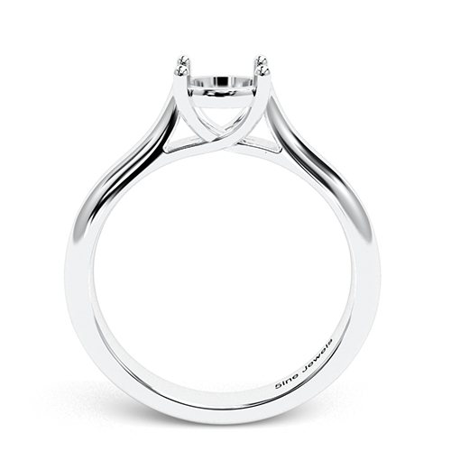 Round Brilliant Cut Cross Prong Solitaire Engagement Ring   Mounts