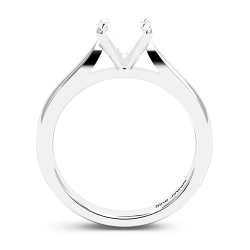 Round Brilliant Cut Tapered Solitaire Engagement Ring   Mounts
