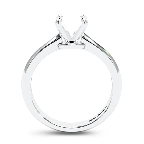 Round Brilliant Cut Knife Edge Solitaire Engagement Ring   Mounts
