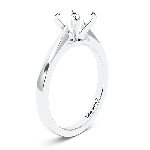 Round Brilliant Cut Petite Solitaire Engagement Ring   Mounts