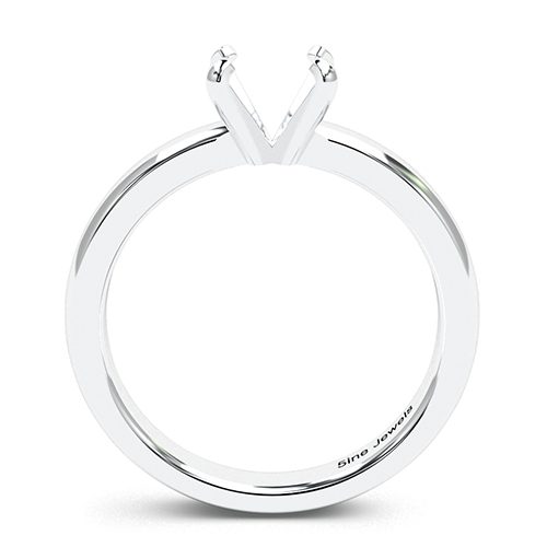 Round Brilliant Cut Comfort fit 4 Prong Solitaire Engagement Ring   Mounts