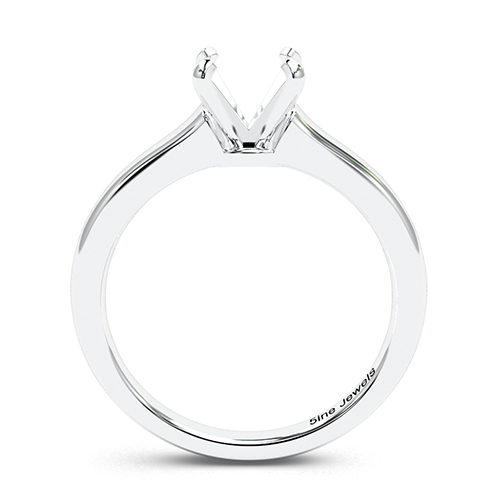 Round Brilliant Cut Contemporary Solitaire Engagement Ring   Mounts