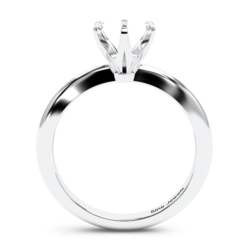 Round Brilliant Cut Tapered 6 Prong Solitaire Engagement Ring   Mounts