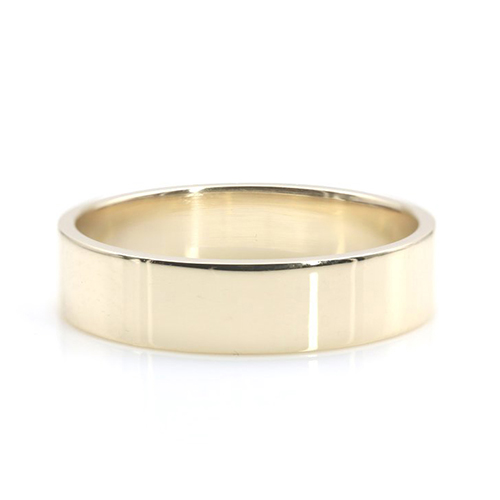 Flat Classic Bands Wedding Ring 18K-White Gold