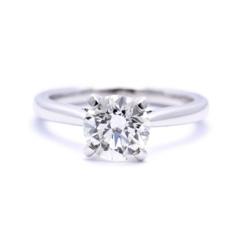 Round Brilliant Cut 1.50 Ct Vs2 H Round Brilliant Natural Diamond Solitaire Engagement Ring In Platinum Diamond  Ready to Ship