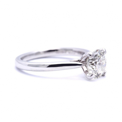 1.50 Ct Vs2 H Round Brilliant Natural Diamond Solitaire Engagement Ring In Platinum