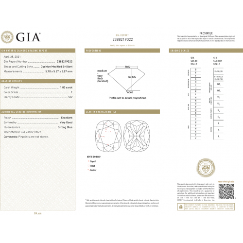 GIA Certified 1.20 Carats SI2 F French Pave Cushion Cut Diamond Engagement Ring 18K White Gold