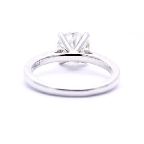 1.50 Ct Vs2 H Round Brilliant Natural Diamond Solitaire Engagement Ring In Platinum