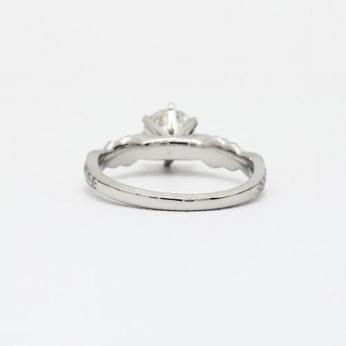1.9 Carats SI2 D Art Deco Round Brilliant Diamond Engagement Ring Platinum
