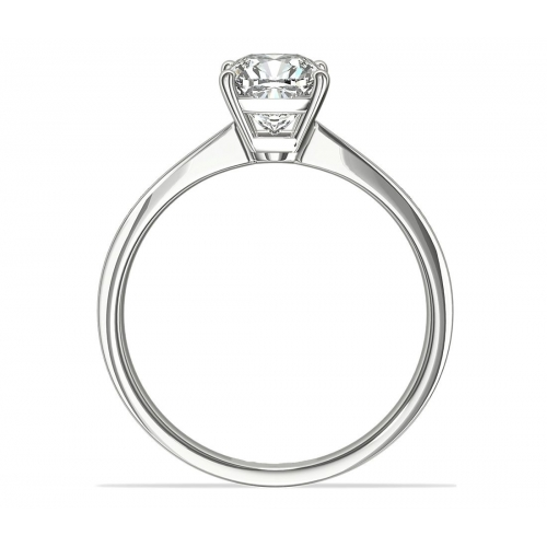1.8 Carats SI2 F Channel Cushion Cut Diamond Engagement Ring 18K White Gold