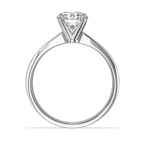 1 Carats SI2 H Channel Round Cut Diamond Engagement Ring 18K White Gold