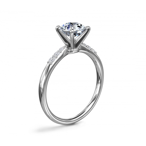 1.10 Carats SI1 F Petite Marquise Cut Diamond Engagement Ring 18K White Gold