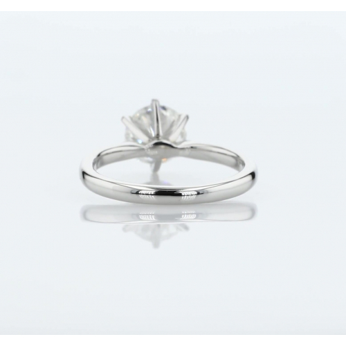 0.60 Carat SI2 F Petite Round Cut Diamond Engagement Ring Platinum