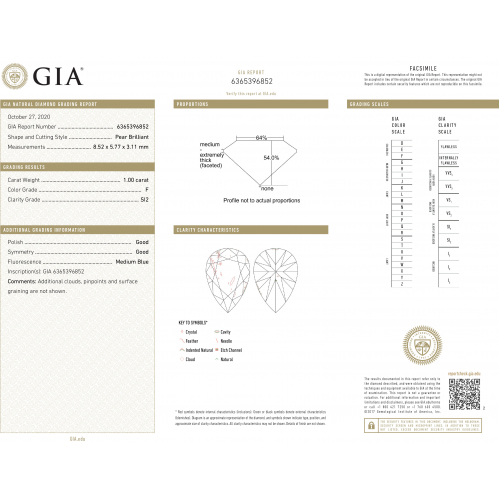 GIA Certified 1.40 Carats SI2 F Three Row Micro Pear Cut Diamond Engagement Ring Platinum