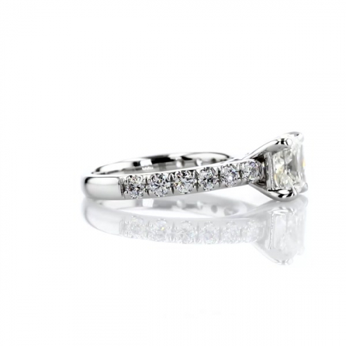 GIA Certified 1.75 Carats VVS2 D French Cushion Cut Diamond Engagement Ring 18K White Gold