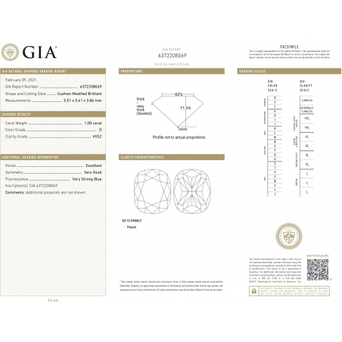 GIA Certified 1.20 Carats VVS2 D French Pave Cushion Cut Diamond Engagement Ring 18K White Gold