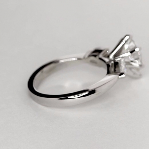 GIA Certified 1.50 Cts SI2 F Pear Cut 3 Stone Diamond Engagement Ring in Platinum