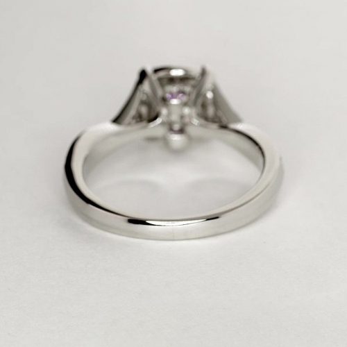 1.60 Cts SI2 F Round Cut Vintage Halo Diamond Engagement Ring 18K White Gold