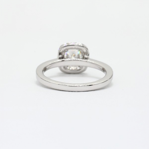 GIA Certified 1.30 Cts SI2 F Round Halo Diamond Engagement Ring Platinum