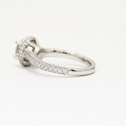 GIA Certified 1.50 Cts SI2 D Round Cut Diamond Engagement Ring 18K White Gold