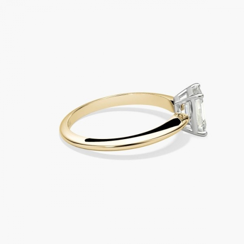IGI Certified 1 Ct VS1 H Classic Emerald Solitaire Diamond Engagement Ring 18K-Yellow Gold