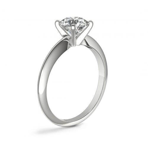 IGI Certified 1.03 Carat SI2 D Classic Round Cut Solitaire Diamond Engagement Ring Platinum