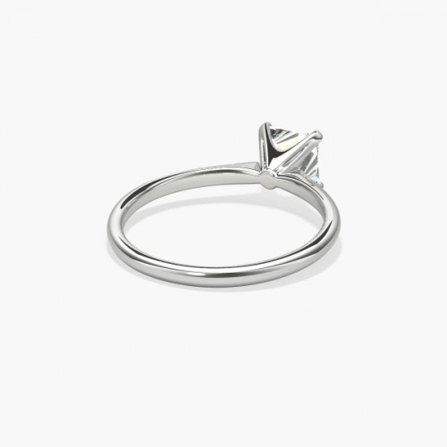 IGI Certified 0.90 Ct SI2 H Comfort fit Princess Solitaire Diamond Engagement Ring 18K-White Gold