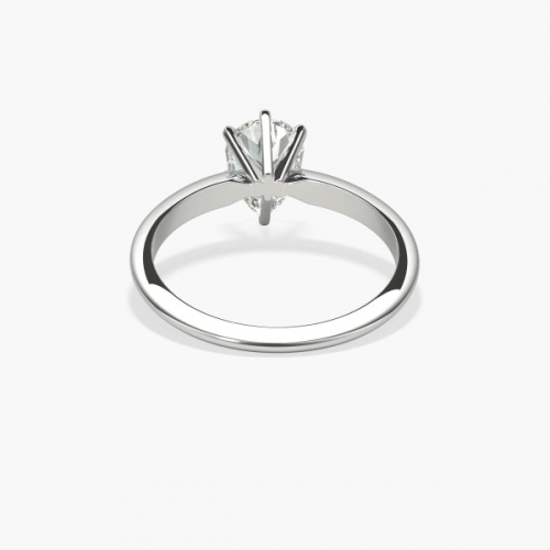 1 Ct SI2 D Classic Pear Cut Solitaire Diamond Engagement Ring 18K-White Gold