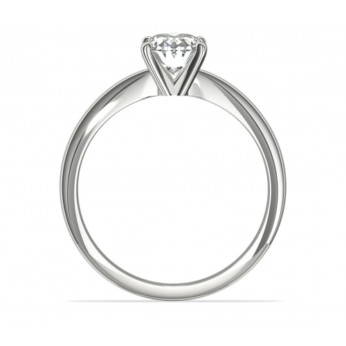 1 Carat SI2 D Classic Oval Cut Solitaire Diamond Engagement Ring Platinum