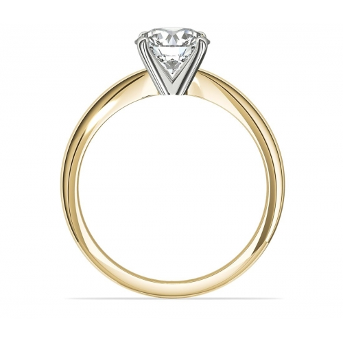GIA 0.50 Ct SI2 D Classic OvalSolitaire Diamond Engagement Ring 18K-Yellow Gold