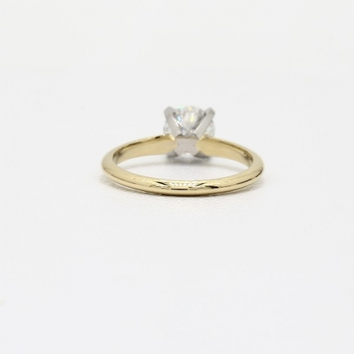 1 Ct SI2 D Classic Round Solitaire Diamond Engagement Ring 18K-Yellow Gold