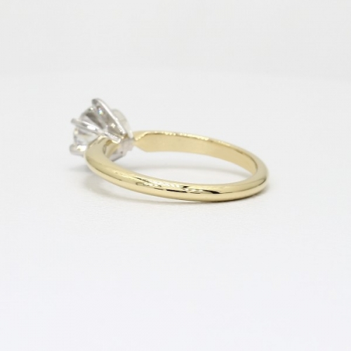 1.50 Cts SI2 H Classic Round Solitaire Diamond Engagement Ring 18K-Yellow Gold