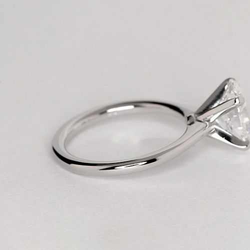 GIA 0.90 Ct SI2 D Simple Oval Solitaire Diamond Engagement Ring 18K-White Gold